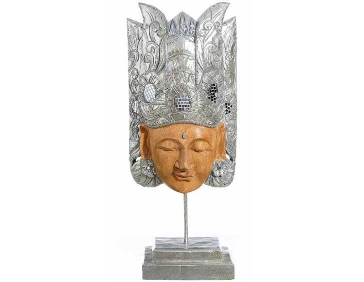 figura-diosa-oriental-madera-resina-plata