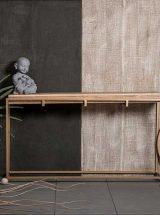 consola-diseño-moderna-madera-metal-recibidor