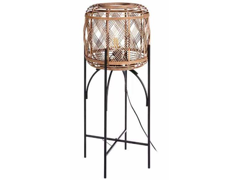 lampara-suelo-bambu-metal