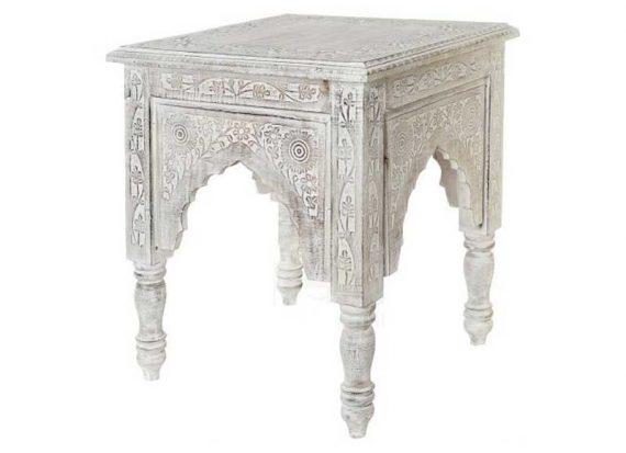 mesa-auxiliar-arabe-cuadrada-blanca