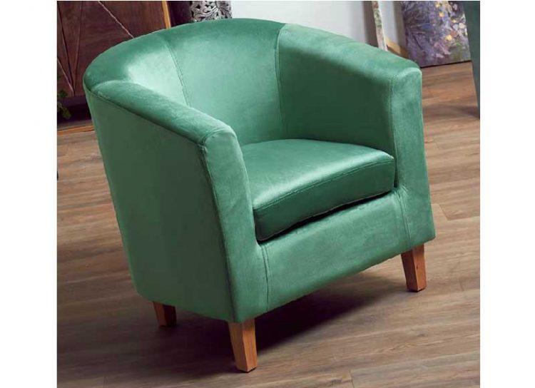 sillon-bajo-verde-terciopelo