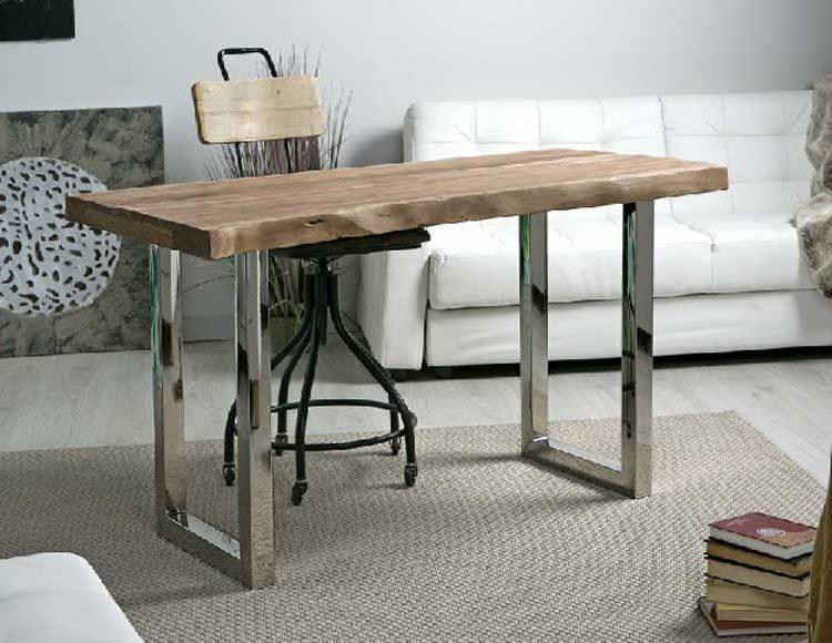 escritorio-rustico-madera-acero