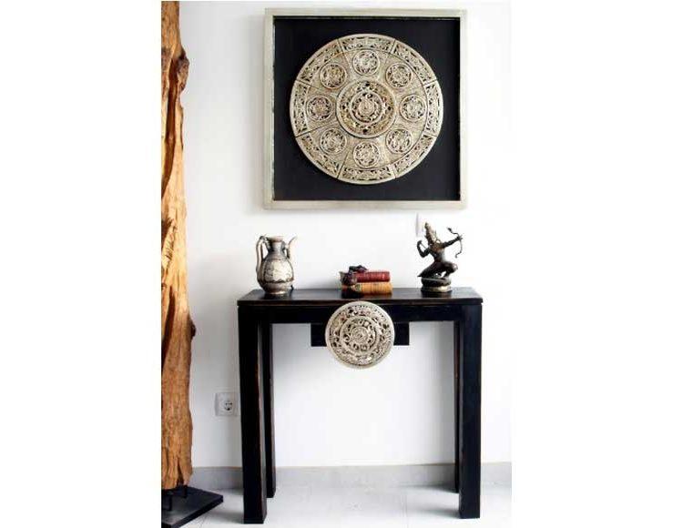 consola-recibidor-oriental-negra-medallon-mandala-dragones-salon