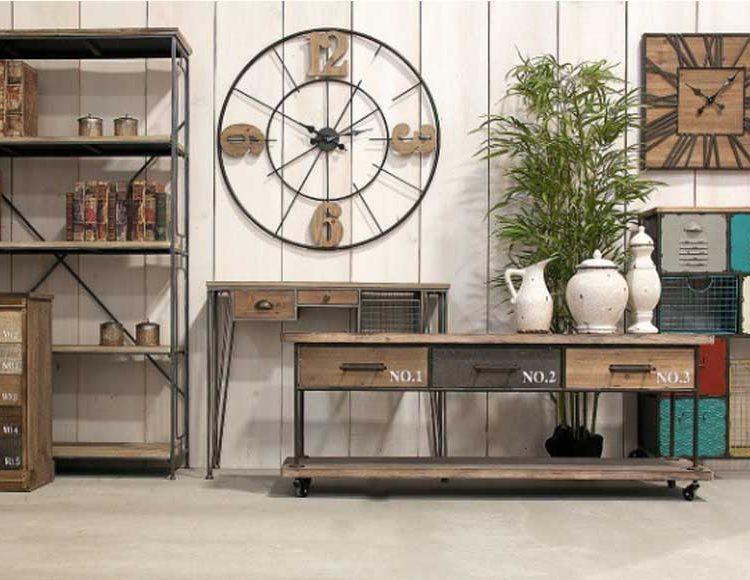 mueble-television-industrial-ruedas-cajones-numeros-salon