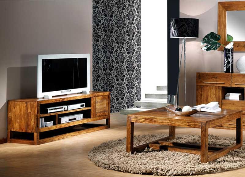 Mueble de televisi n rustico colonial puerta palisandro - Mueble rustico colonial ...