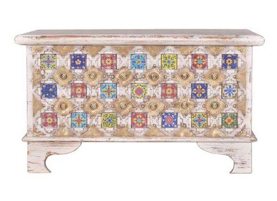baul-etnico-hindu-blanco-decapado-madera-mosaico