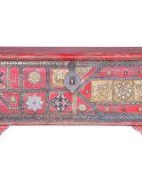 baul-etnico-rojo-madera-mango-elefantes-metal