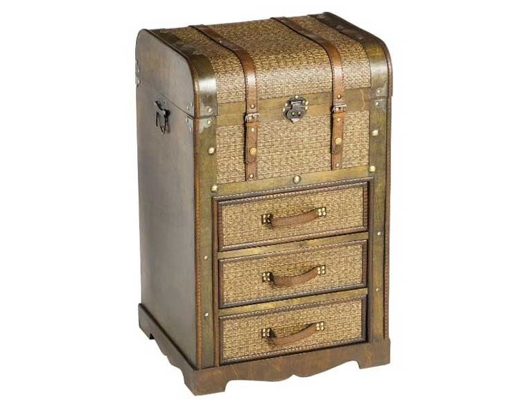 mueble-auxiliar-cajones-baul-madera-rattan