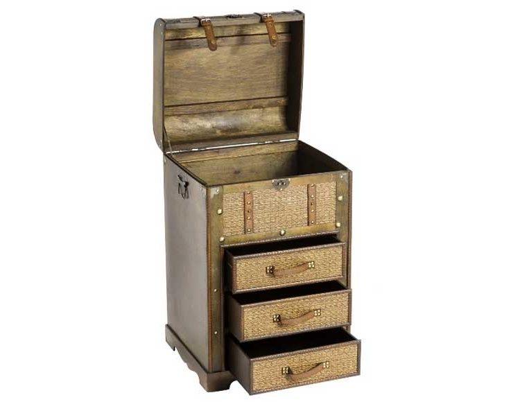 mueble-auxiliar-cajones-baul-madera-rattan-abierto