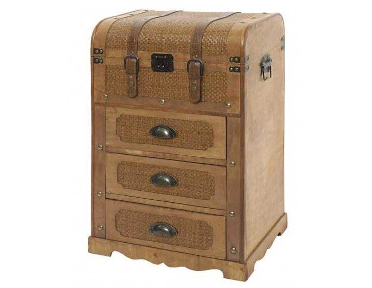 mueble-auxiliar-cajones-baul-rattan