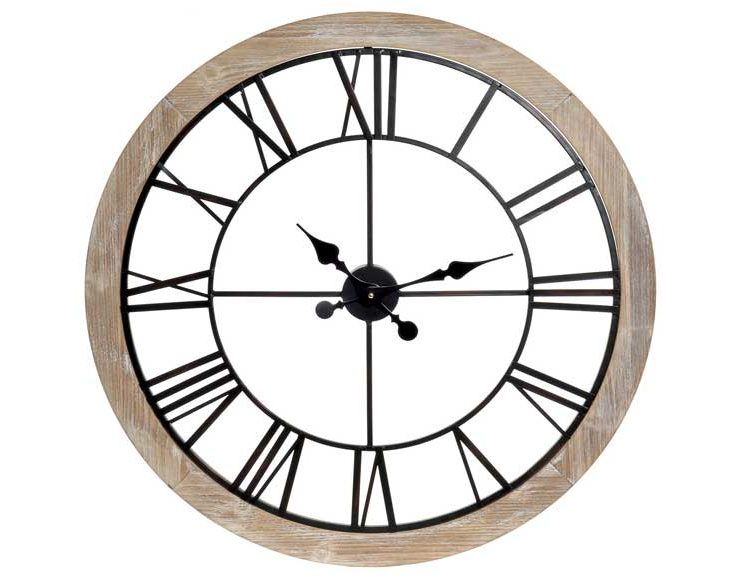 reloj-pared-circular-madera-natural-metal