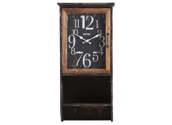 reloj-pared-rectangular-negro-perchero