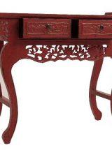 consola-china-tradicional-roja-tallada