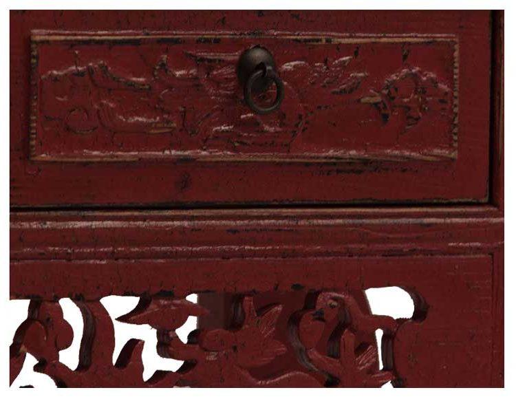 consola-china-tradicional-roja-tallada-detalle