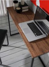 consola-industrial-metal-madera-roble-detalle