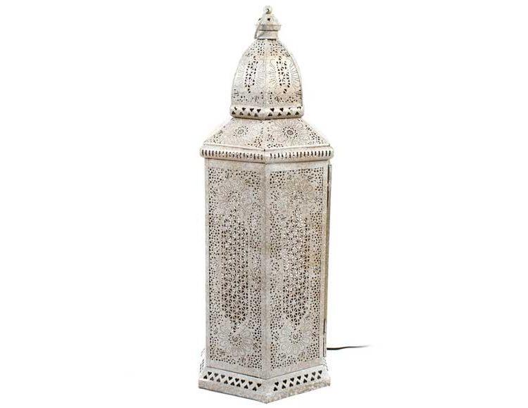 lampara-alta-arabe-metal-blanca