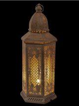 lampara-alta-arabe-metal-blanca-encendida