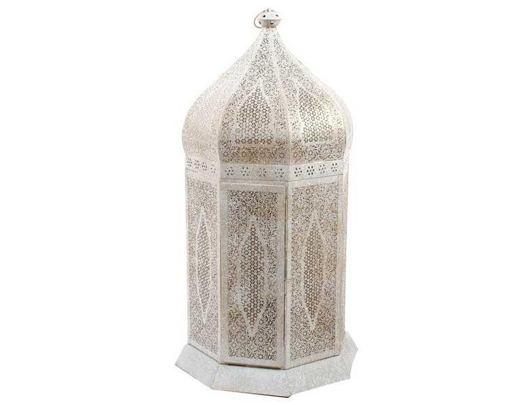 lampara-alta-arabe-metal-blanco-dorado