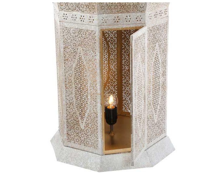 lampara-alta-arabe-metal-blanco-dorado-abierta