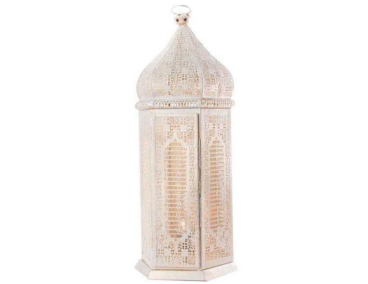 lampara-suelo-arabe-metal-blanco-dorado