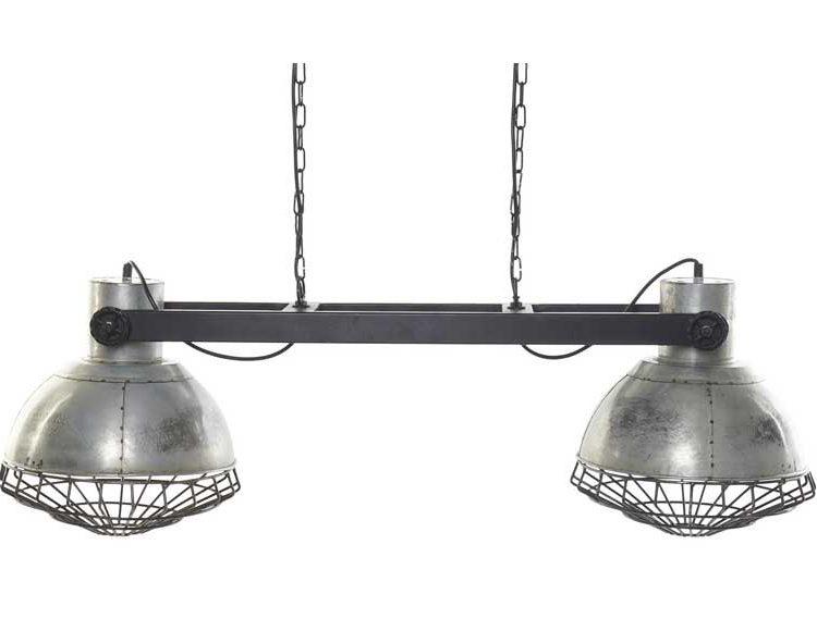 lampara-techo-industrial-pantallas-metal-madera