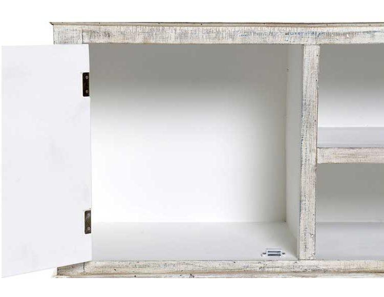mueble-television-etnico-blanco-puertas-multicolor-abierto