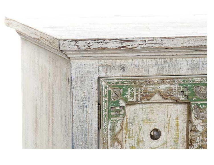 mueble-television-etnico-blanco-puertas-multicolor-detalle