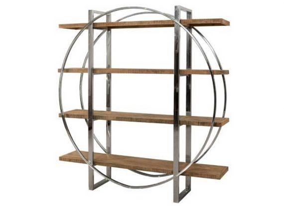 estanteria-moderna-circular-madera-acero