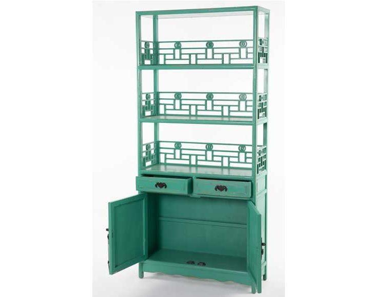 estanteria-oriental-verde-puertas-abierta