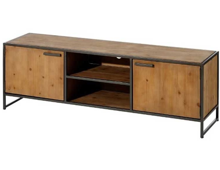 mueble-television-madera-metal-industrial