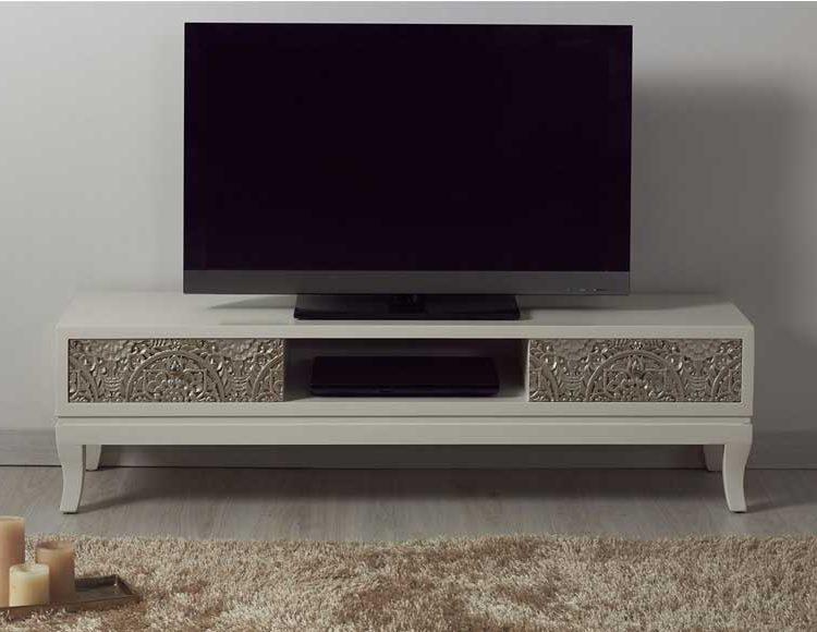 mueble-television-oriental-moderno-talla-mandala-plata