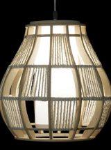 lampara-techo-madera-cordon-encendida