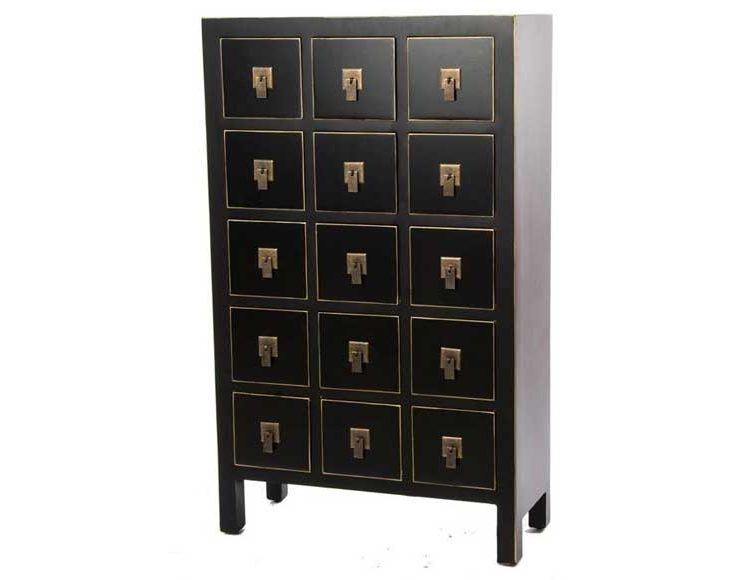 mueble-auxiliar-cajones-oriental-negro