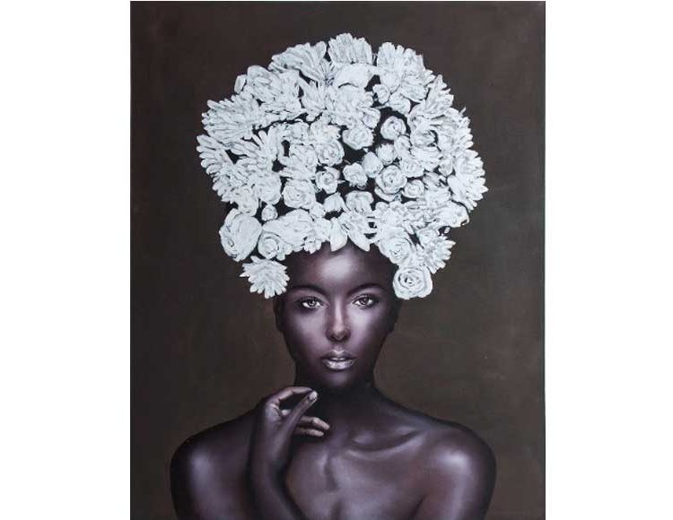 cuadro-lienzo-mujer-africana-flores