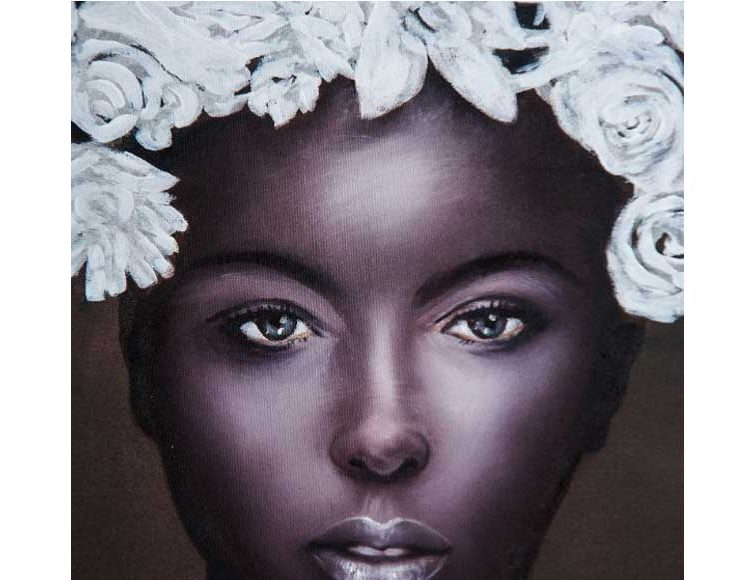 cuadro-lienzo-mujer-africana-flores-detalle