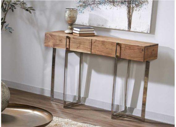 consola-recibidor-moderna-madera-natural-acero
