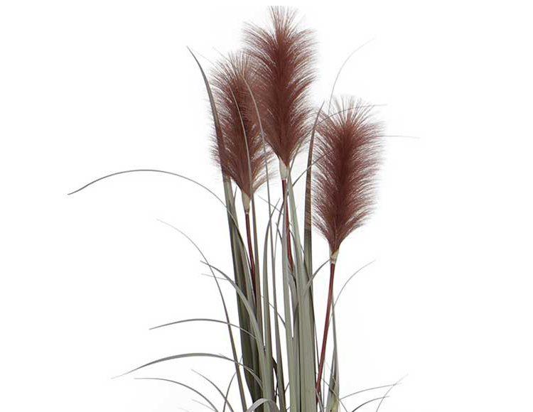 planta-artificial-verde-plumas-marrones-detalle