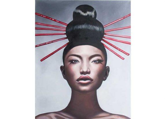 cuadro-lienzo-mujer-oriental-moño