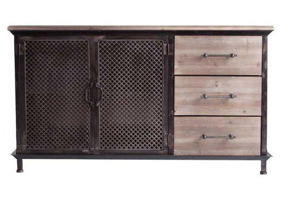 aparador-industrial-puertas-metal-cajones-madera