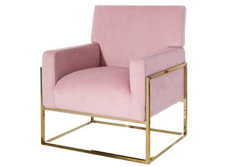 butaca-moderna-diseño-terciopelo-rosa
