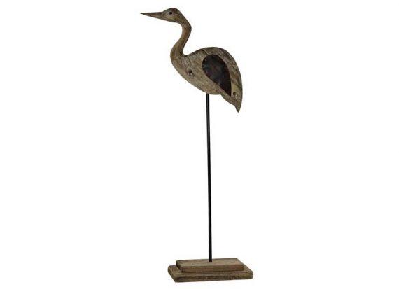 figura-garza-madera-reciclada-soporte