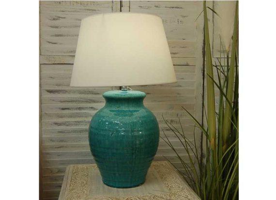 lampara-sobremesa-ceramica-azul-turquesa