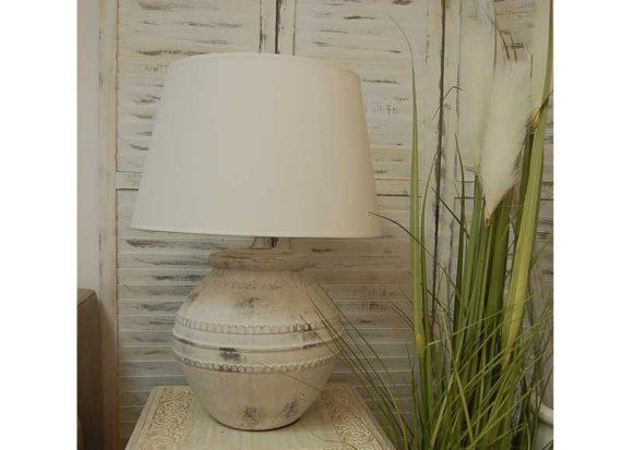 lampara-sobremesa-vasija-terracota-blanca