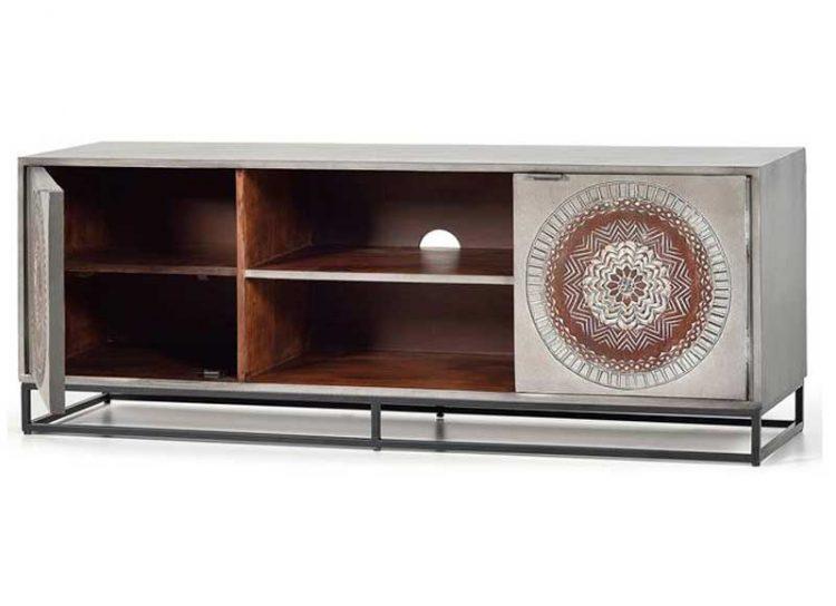 mueble-television-oriental-gris-talla-mandala-abierto