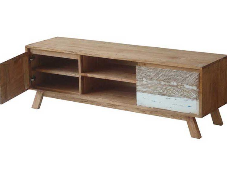 mueble-television-rustica-madera-maciza-abierta