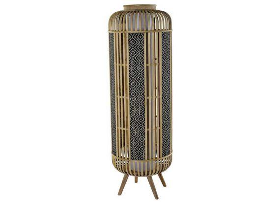 lampara-suelo-cilindrica-bambu-dibujo-etnico