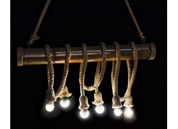 lampara-techo-bambu-cuerda