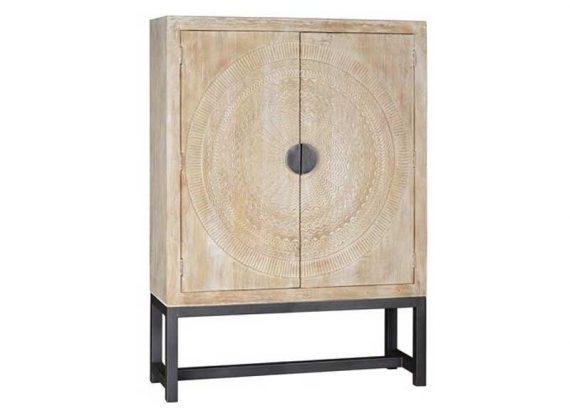 armario-oriental-mandala-talla-madera-natural