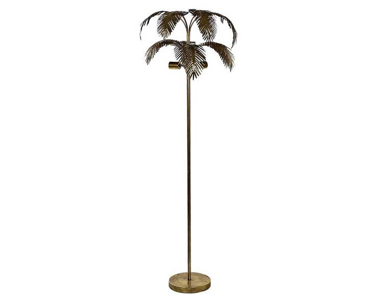 lampara-suelo-palmera-metal-dorada