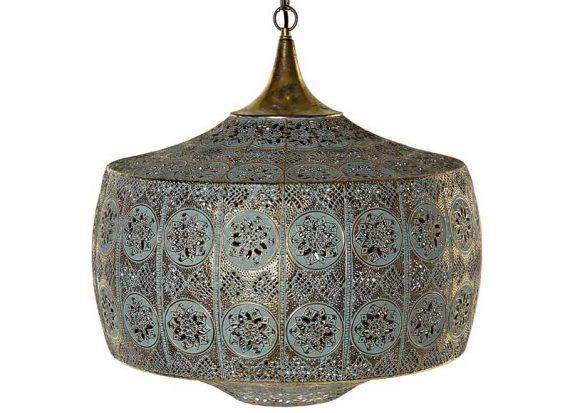 lampara-techo-arabe-metal-calado